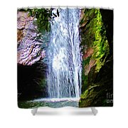 Angels Bathing Room Shower Curtain