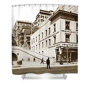 Angel's Flight Railway Los Angeles California  Circa 1908 Shower Curtain