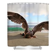 Angels- For The Lord Himself Will Descend From Heaven With A Shout Shower Curtain