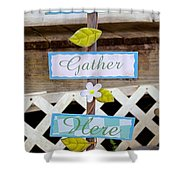 Angels Gather Here Shower Curtain