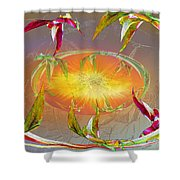 Angels Gather To The Love Of The Lord Shower Curtain