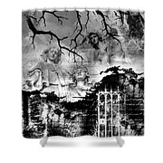 Angels In Gothica Bw Shower Curtain
