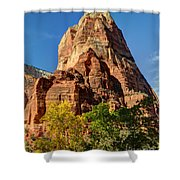 Angel's Landing In Fall - Zion National Park  Shower Curtain