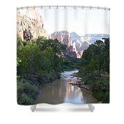 Angels Landing - Virgin River - Zion Np Shower Curtain