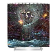 Angels Peril On The Sea Shower Curtain