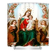 Angels With Roses Shower Curtain