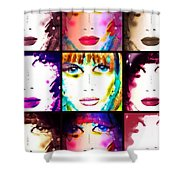 Angie December Shower Curtain