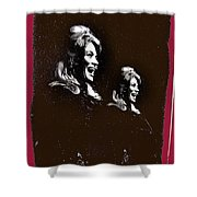 Angie Dickinson Laughing Collage Young Billy Young Set Old Tucson Arizona 1968-2013 Shower Curtain