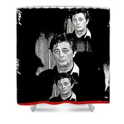 Angie Dickinson Robert Mitchum Collage Young Billy Young Set Old Tucson Arizona 1968-2013 Shower Curtain
