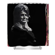 Angie Dickinson Smiling Young Billy Young Set Old Tucson Arizona 1968-2013 Shower Curtain