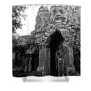 Angkor Thom East Gate 01 Shower Curtain
