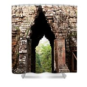 Angkor Thom East Gate 02 Shower Curtain