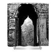Angkor Thom East Gate 03 Shower Curtain