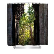 Angkor Thom East Gate 04 Shower Curtain