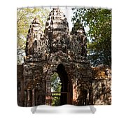 Angkor Thom North Gate 01 Shower Curtain