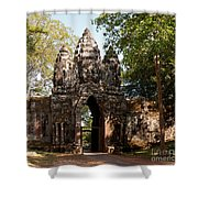 Angkor Thom North Gate 02 Shower Curtain