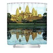 Angkor Wat Reflections 01 Shower Curtain