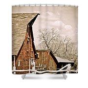 Angle Top Barn Shower Curtain