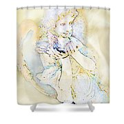 Angle With Dove Photoart Shower Curtain