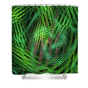Angle Worms Shower Curtain