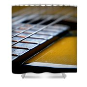Angled Acoustic Guitar  Shower Curtain