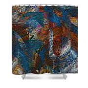 Angles And Curves Abstract Shower Curtain