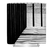 Angles And Shadows - Black And White Shower Curtain