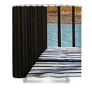 Angles And Shadows Shower Curtain
