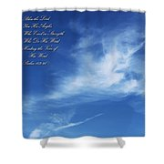 Angels In The Sky Shower Curtain