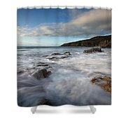 Anglesey Tides Shower Curtain