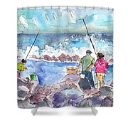 Angling In Gran Canaria Shower Curtain