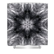 Angry Clouds Mandala1 Shower Curtain