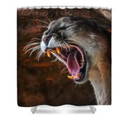 Angry Cougar Shower Curtain