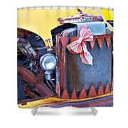 Angry Face Shower Curtain