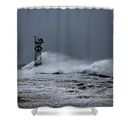 Angry Ocean In Ocean City Shower Curtain