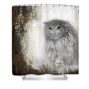 Angry Owl's Talons Shower Curtain