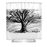 Angry Tree Shower Curtain