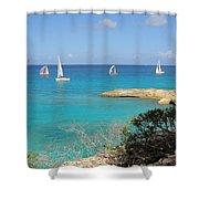 Anguilla Regatta Shower Curtain