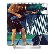 Angus Young Of A C D C At Day On The Green Monsters Of Rock Shower Curtain