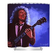 Angus Young Of Ac / Dc Shower Curtain