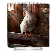 Animal - Chicken - Lost In Thought Shower Curtain