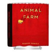 Animal Farm Book Cover Poster Art 2 Shower Curtain