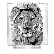 Animal Prints - Proud Lion - By Sharon Cummings Shower Curtain