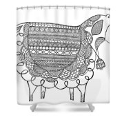 Animal Sheep 2 Shower Curtain by MGL Meiklejohn Graphics Licensing