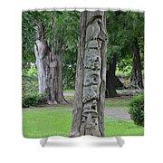 Animal Tree Totem Shower Curtain