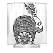 Animals Bunny Shower Curtain by MGL Meiklejohn Graphics Licensing