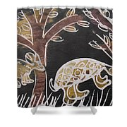 Animals On The Farm. Shower Curtain
