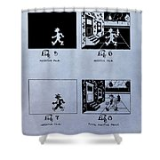 Animation Patent Shower Curtain