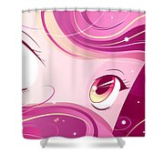Anime Girl Shower Curtain by Sandra Hoefer