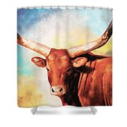 Ankole Bull Shower Curtain